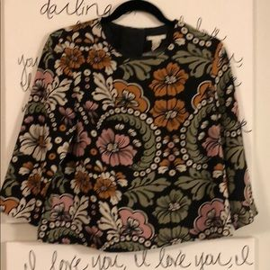 H&M floral knit cropped top
